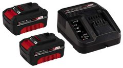 Аккумулятор + зарядное Einhell Starter-Kit Power-X-Change 18V 2x3,0Ah (4512098) фото